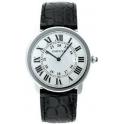 Cartier Homme 36mm Bracelet Cuir Noir Boitier Acier