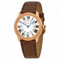 montre Cartier ronde Solo de Cartier Montre en cuir Marron w6701007