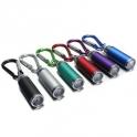 Mini LED Lampe de Poche Torche Eclairage Porte-Clé Portable-ARGENT