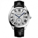 Cartier Homme 40mm Bracelet Cuir Noir WSNM0004 Boitier Acier Inoxydable